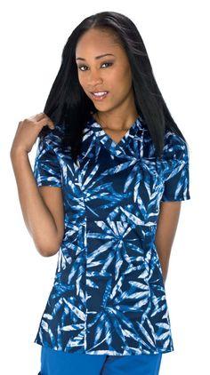 Reflective Palms Print V-Neck Top