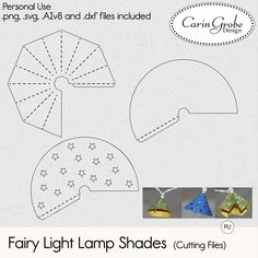 DIY fairy lights - post and freebie on #theStudio blog. #CarinGrobeDesign #Silhouette
