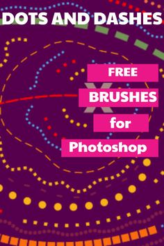 20 Free Dashed and Dotted Line Brushes for Photoshop - GrutBrushes Creative Skills, Creative Art, Dash And Dot, Artist Brush, Dotted Line, Brush Sets, Vector Shapes, You Draw, Photoshop Brushes