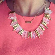 Delicate Gold Rebel Stone Statement Necklace x personalized delicate necklace | Stella & Dot www.stelladot.com/mnm