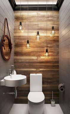 Cool modern farmhouse bathroom design ideas (90)
