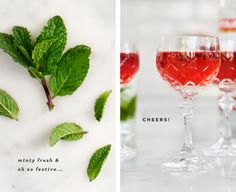 Minty Pomegranate Spritzer Recipe - Love and Lemons - Summer Fashion Pomegranate Cocktails, Pomegranate Juice, Cocktails To Make At Home, Holiday Cocktails, Drinks Alcohol Recipes, Alcoholic Drinks, Cocktail Recipes, Drink Recipes, Beverages