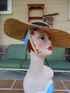 Vintage original 1940's hat womens bonnet gone by romanticcountry, $79.99