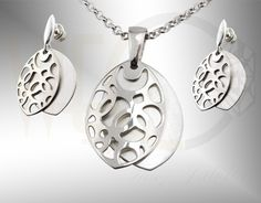 Komplet biżuterii ze srebra/ Jewellery set made from silver/ 189 PLN