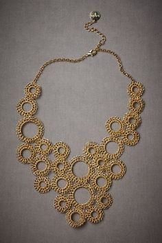 hand crocheted and beaded circles by Natalie Larin