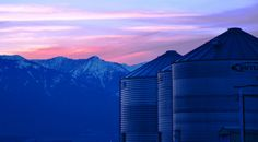 Baker County Tourism – basecampbaker.com Silos in the sunset along the Elkhorn Scenic Byway