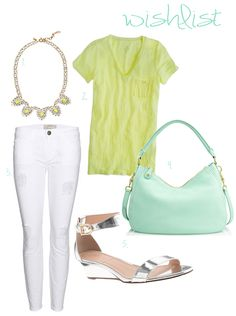 Citrus and Mint...my style wishlist for these beautiful fashion favorites