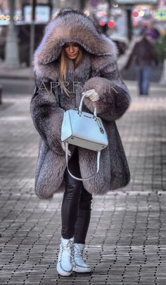 Perfect fox fur parka