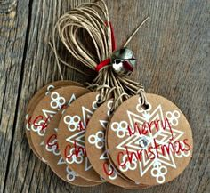 Love these Christmas gift tags!