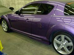 Purple Mazda RX8
