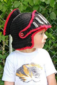 1fb499d2e20 Sir Knight Helmet. Crochet Kids HatsCrochet BeanieKnit ...