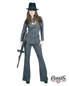 Adult Gangster Moll Costume   Wholesale Gangsters Halloween Costume for Women