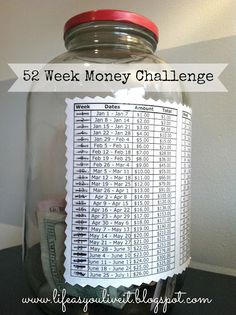 52 week money saving challenge - If you save the amount of each week, every week, by December 31st you'll have $1,378.00