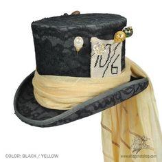 diy mad hatter hat   Alice Mad Hatter Top Hat (Black)