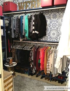 Hometalk :: Closet Makeover, Stenciling Walls, Lace Wall Stencil.  Wow, this makes me really want to get my closet organized!  This is a beautiful closet.