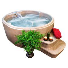 Love this small hot tub