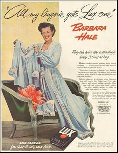 Barbara Hale for Lux Detergent.