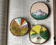 Habit of Art. little paintings on cedar wood slices
