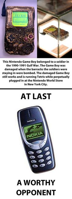 Nokia vs. Nintendo Game Boy.