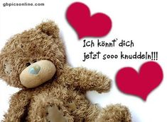 a picture for & # s heart & # cuddly-greeting . German Quotes, Positive Motivation, Tatty Teddy, New Years Eve Party, Emoticon, To My Future Husband, Happy Day, Birthday Wishes, Happy Birthday