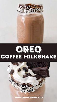 Ice Cream Milkshake Recipe, Homemade Milkshake, Ice Cream Drinks, Coffee Milkshake, Oreo Milkshake, Coffee Ice Cream, Milkshake Recipes, Easy Coffee, Iced Coffee