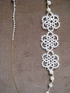 Tatting lace tubutubu necklace...what a peculiar name.