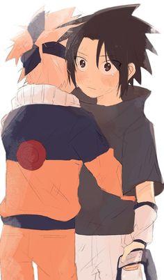 Naruto & Sasuke, that beautiful friendship Sasunaru, Naruto Uzumaki Shippuden, Narusasu, Naruto And Sasuke Kiss, Naruto Cute, Naruto Kakashi, Sakura And Sasuke, Naruto Comic, Naruto Pictures