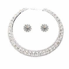 $29 - Wedding Jewelry Set Crystal Rhinestone Collar Choker Necklace Silver Accessoriesforever #sponsored myswecit04-20 http://www.amazon.com/gp/product/B008BM6X2I/ref=as_li_tl?ie=UTF8&camp=1789&creative=390957&creativeASIN=B008BM6X2I&linkCode=as2&tag=myswecit0a-20&linkId=BDVC7UOROBLAFL4P #convann2 #necklace