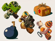 Worms - Various concept art.   by Patrick Romano