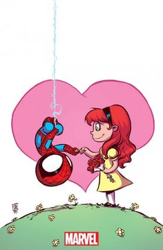 Amazing Spider-Man - Renew Your Vows variant cover by Skottie Young * - Visit to grab an amazing super hero shirt now on sale! Marvel Comics, Chibi Marvel, Marvel Art, Chibi Spiderman, Skottie Young, Comic Book Artists, Comic Artist, Comic Books Art, Baby Marvel