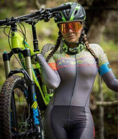 (MTB) > too sexy to mountain bike and that's ok with me- Women's Cycling, Cycling Wear, Cycling Girls, Cycling Outfits, Cycle Chic, Triathlon, Radler, Sport Outfit, Bicycle Girl