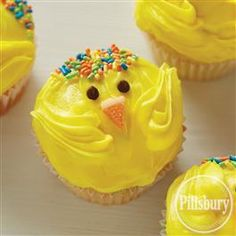 Spring Chick Cupcakes from Pillsbury™ Baking are an Easter dessert the whole family can make together! This adorable dessert recipe is a simple way to get the kids involved in the kitchen.