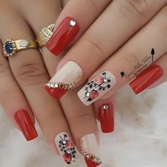 Oñas Bonitas Elegant Nail Designs, Diy Nail Designs, Colorful Nail Designs, Nail Polish Designs, Luxury Nails, Stamping Nail Art, Bridal Nails, Hot Nails, Nagel Gel