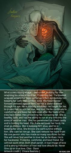 Very touching artwork with the explanation.