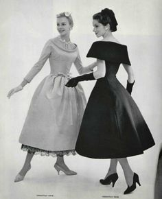 1957 Christian Dior The black one! Vintage Glamour, Vintage Dior, Moda Vintage, Vintage Couture, Vintage Mode, Vintage Beauty, Vintage Hats, Vintage Girls, Fifties Fashion