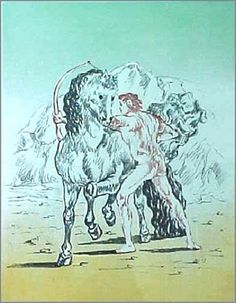 Litografia - Giorgio De chirico - Untitled