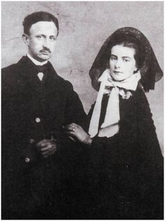 Francesco II. the last King of Naples and Two Sicily and Queen Maria Sofia (sister of Empress Sisi of Austria)