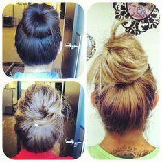 Buns around the office! #hair
