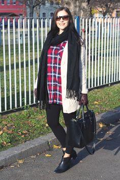Kleidermädchen - Herbst Outfit blouse - H&M / Cardigan - Zara / Scarf - Topshop / Leggings - Topshop / Shoes - Zign / Bag - zara / Sunglasses - ralph lauren