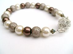 Pearl Bracelet Easy To Fasten Jewelry Magnetic Clasp by KIMMSMITH, $15.00