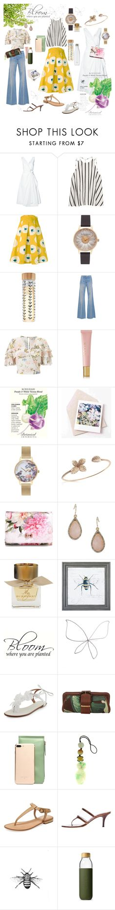 """""""Summer Garden Party"""" by nettie4110 ❤ liked on Polyvore featuring 10 Crosby Derek Lam, Finders Keepers, Eggs, Olivia Burton, Blumarine, Miss Selfridge, AERIN, Pasquale Bruni, Ted Baker and Carolee"""