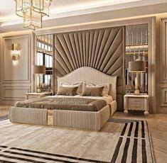 Modern Luxury Bedroom, Luxury Bedroom Design, Master Bedroom Interior, Luxury Rooms, Room Design Bedroom, Bedroom Furniture Design, Luxurious Bedrooms, Bedroom Designs, Interior Design