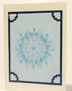 Blue Snowflake Beaded Card Click here to see more at www.WrittenCards.com