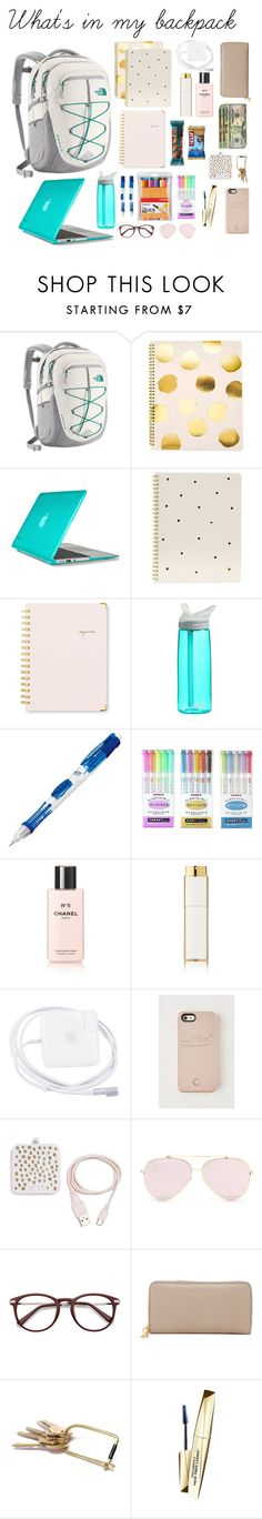"""What's in my backpack 2017"" by blancskees on Polyvore featuring The North Face, Sugar Paper, Speck, CamelBak, Paper Mate, Stabilo, Chanel, LuMee, ban.do and Marc Jacobs"