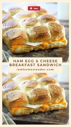 Just look at all of those ooey gooey layers of melty cheesy goodness. This easy breakfast sandwich will change your day, maybe even your life. They are jam-packed with flavor and so easy to prepare!Visit iamhomesteader.com for more delicious mouth watering recipes and fresh from garden meals! #breakfast #cheesy #sandwich #easyrecipe