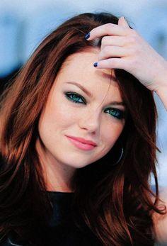 Emma stone- love the hair.
