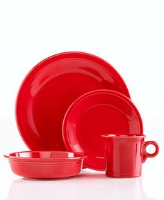Fiesta 4-Piece Place Setting (red) x2  (shamrock) x2  (sunflower) x2 (tangerine) x2  {{make sure they are on sale-don't pay full price!}}