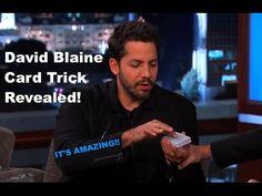 The Best David Blaine Card Trick Revealed! Street Magic Tricks, Magic Card Tricks, Easy Magic Tricks, Card Tricks Revealed, For Love Or Money, Learn Magic, Sleight Of Hand, Magic Show, David