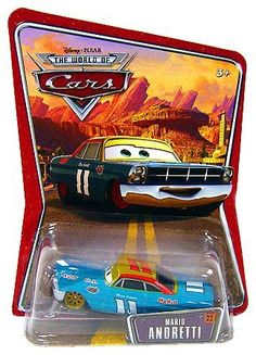 Cars: Andretti by Mattel. $24.98. All your favorite characters from the Disney/Pixar movie, CARS, including Lightning McQueen, Ramone, Mater, Sally, Hudson Hornet, Boost, and King. It's fun to collect these 1:55-scale, die-cast action-sized vehicles. From the Manufacturer                It's fun to collect these 1:55-scale, die-cast action-sized vehicles! All your favorite characters from the Disney/Pixar movie, CARS, including Lightning McQueen, Ramone, Mater, Sally, ...