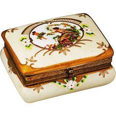 Vintage Porcelain Boxes | Vintage German Porcelain trinket or jewelry BOX